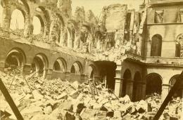 France Paris Desastre De La Commune Ministere Des Finances Ancienne CDV Photo 1871 - Photographs