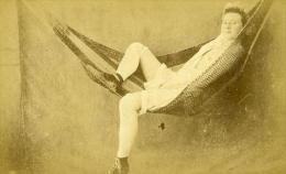 France Paris Second Empire Femme Demi Nue Cocodette Hamac Ancienne CDV Photo Locart 1865 - Photographs