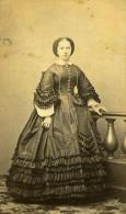France Lille Femme Mode Du Second Empire Ancienne CDV Photo Carette 1870 - Photographs