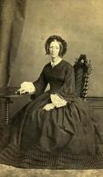 France Lille Femme Mode Du Second Empire Ancienne CDV Photo Leblondel 1860 - Photographs