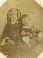France Macon Mme Puvis De Chavannes Et Son Petit Fils Ancienne CDV Photo Perret 1870 - Photographs