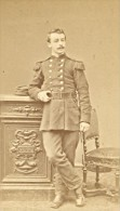 Paris France Military Uniforme Old CDV Photo 1880' - Photographs