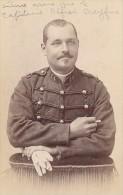 La Rochelle France Military Uniform Old CDV Photo 1880' - Photos