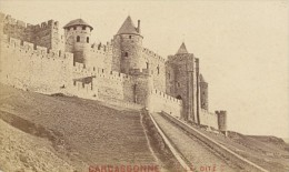 France Old CDV Photo 1880 Carcassonne Panorama - Photographs