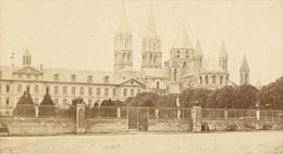 France Old CDV Photo 1880 Caen Abbaye Aux Hommes - Photographs