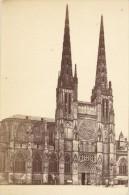 France Old CDV Photo 1880 Bordeaux Saint André Church - Photographs