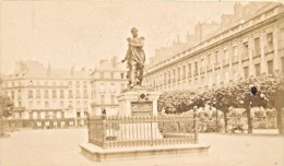 France Old CDV Photo 1880 Nantes Cambronne Statue - Photographs