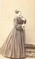 Nancy France Femme Mode Second Empire CDV Photo Perin 1865 - Photographs