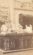 Brou Interieur De L'église Jube Et Mausolee Bourg En Bresse CDV Muzet & Joguet Photo 1864 - Old (before 1900)