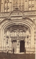 Brou Amateurs Admirant Le Portail Bourg En Bresse CDV Muzet & Joguet Photo 1864 - Old (before 1900)