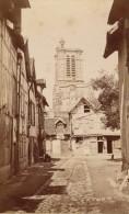Troyes Rue Derrière La Cathédrale St Pierre St Paul CDV PHOTO 1875 - Old (before 1900)
