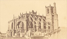 Cathedrale Saint Just & Saint Sauveur Abside Narbonne CDV Photo Verdier 1870 - Old (before 1900)