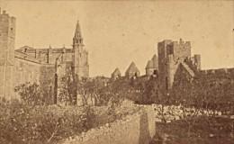 Carcassonne Eglise Saint Nazaire & Remparts CDV Photo Verdier 1870 - Old (before 1900)