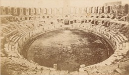 Interieur Theatre Antique Romain Arles Ancienne CDV Photo 1875 - Old (before 1900)