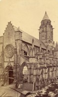 Caen Eglise Du Vieux Saint Etienne En Travaux Calvados France Ancienne CDV Photo 1875 - Old (before 1900)