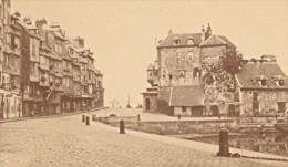 Honfleur Quai Sainte Catherine Calvados France Ancienne CDV Photo 1875 - Old (before 1900)