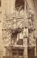 Brou Monastere Royal Tombeau Bourg En Bresse Ain Muzet Et Joguet Ancienne CDV Photo 1865 - Old (before 1900)