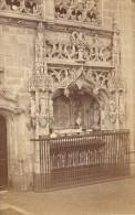 Brou Monastere Royal Detail Tombeau Bourg En Bresse Ain Muzet Et Joguet Ancienne CDV Photo 1865 - Old (before 1900)