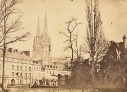 Quimper Saint Corentin & Odet Finistere France Ancienne CDV Photo 1865 - Old (before 1900)