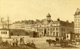 France Dessin De L'Arsenal Au Havre Ancienne CDV Photo Colliau 1865 - Photographs