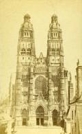 France Tours La Cathedrale Ancienne CDV Photo Blaise 1870 - Photographs