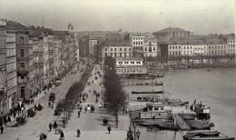 Suisse Lac De Geneve Scene De Rue Animee Ancienne CDV Photo 1870 - Photographs