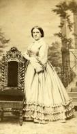 France Strasbourg Femme Mode Du Second Empire Ancienne CDV Photo Langrene 1860's - Photographs