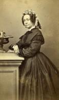 France Reims Femme Mme Lachapelle Second Empire Mode Ancienne CDV Photo Cliche 1860's - Photographs
