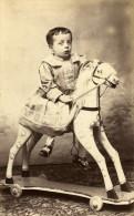 France Vincennes Jouet D Enfant Cheval Ancienne CDV Photo Mayer 1890 - Photographs