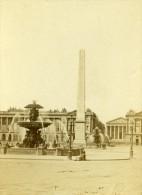 France Paris Place De La Concorde Second Empire Ancienne CDV Photo 1865 - Old (before 1900)