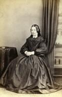 Royaume Uni Nothallerton Femme Mode Victorienne Ancienne CDV Photo Cooper 1865 - Photographs