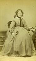 Royaume Uni Nottingham Femme Mode Victorienne Ancienne CDV Photo Shaw 1865 - Photographs