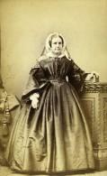 Royaume Uni Harrogate Femme Mode Victorienne Ancienne CDV Photo Holroyd 1865 - Old (before 1900)