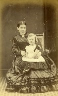 Royaume Uni Londres Famille Groupe Mode Victorienne Ancienne CDV Photo 1865 - Photographs