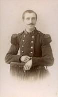 France Nancy Militaire Soldat Ancienne CDV Photo Thiriot 1890 - Photographs