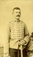 France Senlis Militaire Soldat Edouard Gervais Ancienne CDV Photo Patte 1890 - Photographs