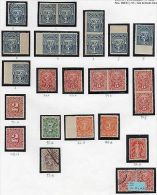 Uruguay Waterlow 1892 Stamp  Issue X20 Varieties Perforations Coat Of Arms Horse - Uruguay