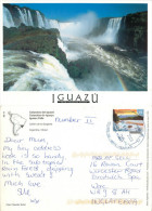 Iguazu Falls, Argentina Postcard Posted 2009 Stamp - Argentina