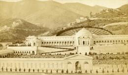 Italie Genes Cimetiere Ancienne CDV Photo Noack 1865 - Photographs