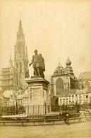 Belgique Anvers Place Verte Ancienne CDV Photo Queval 1865 - Photographs