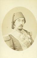 France Paris Ali Cherif Pacha Politicien Ancienne CDV Photo Mathieu-Deroche 1865 - Photographs