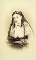 France Nice Marquise De Pruns D Apchier Ancienne CDV Photo Silli 1865 - Old (before 1900)