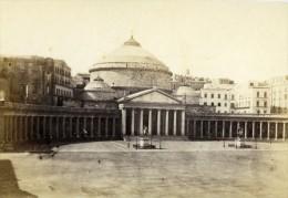 Italie Naples Eglise San Francisco Di Paola Ancienne CDV Photo Rive 1870 - Photographs