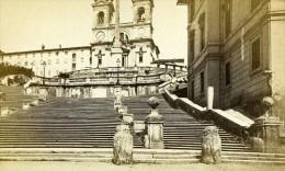 Italie Rome Eglise Sainte Trinite Du Mont Ancienne CDV Photo 1870 - Photographs