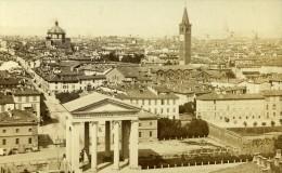 Italie Milan Panorama Ancienne CDV Photo Brogi 1870 - Old (before 1900)