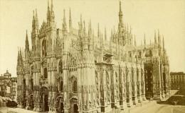 Italie Milan Cathedrale Ancienne CDV Photo Brogi 1870 - Photographs