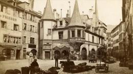 Suisse Neufchatel Marché Ancienne CDV Photo Bruder 1870 - Photos