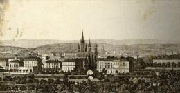 Allemagne Wiesbaden Panorama Ancienne CDV Photo 1870 - Anciennes (Av. 1900)