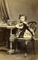 Royaume Uni Halifax Enfant Mode Victorienne Ancienne CDV Photo Gregson 1870 - Old (before 1900)