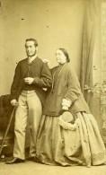 Royaume Uni Dublin George Emily Wilson Mode Victorienne Ancienne CDV Photo Chancellor 1870 - Photographs